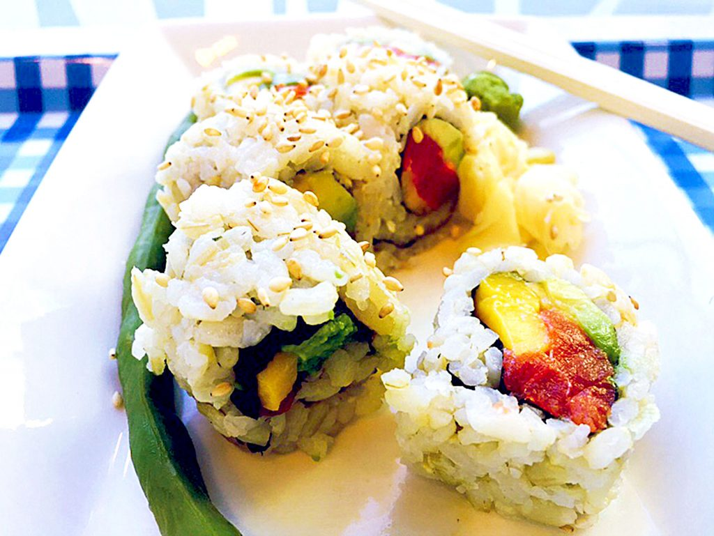 Aqua Sushi Roll at Aqua Juice Bar | tryhiddengems.com
