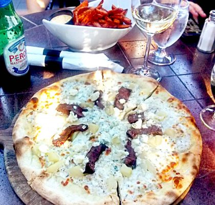 Steak and Gorgonzola Pizza at The Speakeasy | tryhiddengems.com