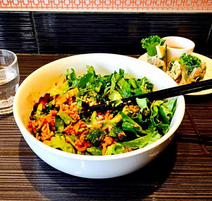 Midnight Swim Bowl at Chau Veggie Express | tryhiddengems.com