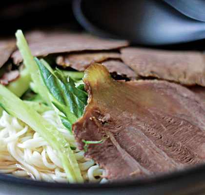 Flavored Cold Beef Noodles at North Noodle House | tryhiddengems.com