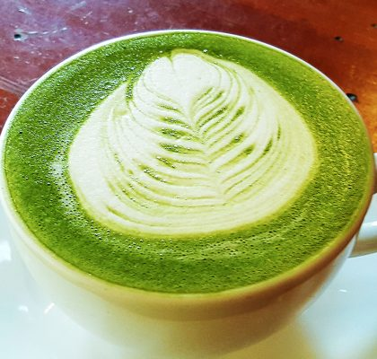Matcha Latte at Blaq Sheep Cafe | tryhiddengems.com