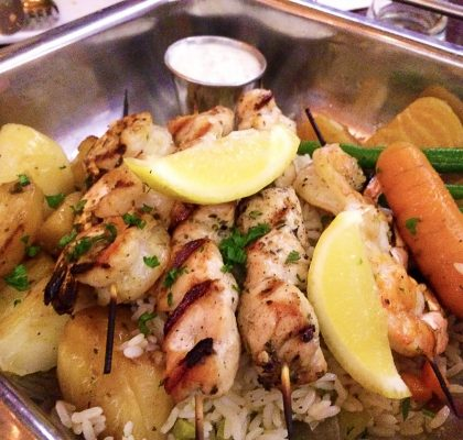 Souvlaki Platter at Greek by Anatoli | tryhiddengems.com