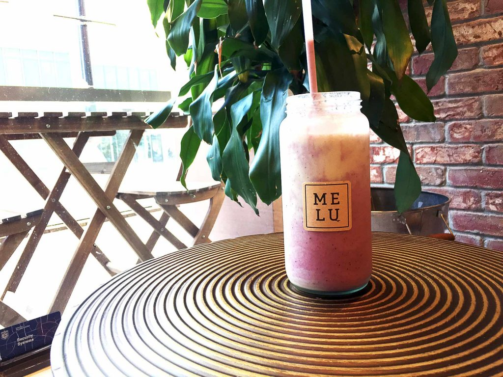 Berry Colada Smoothie at Melu Juice Bar | tryhiddengems.com