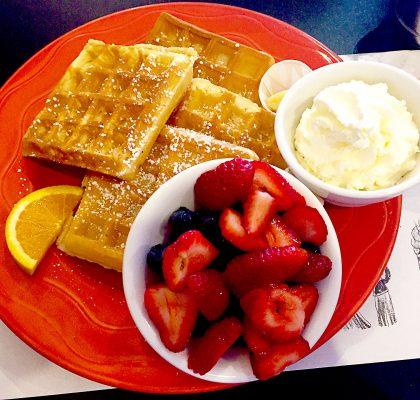 Classic Belgium Waffles at Sophie's | tryhiddengems.com