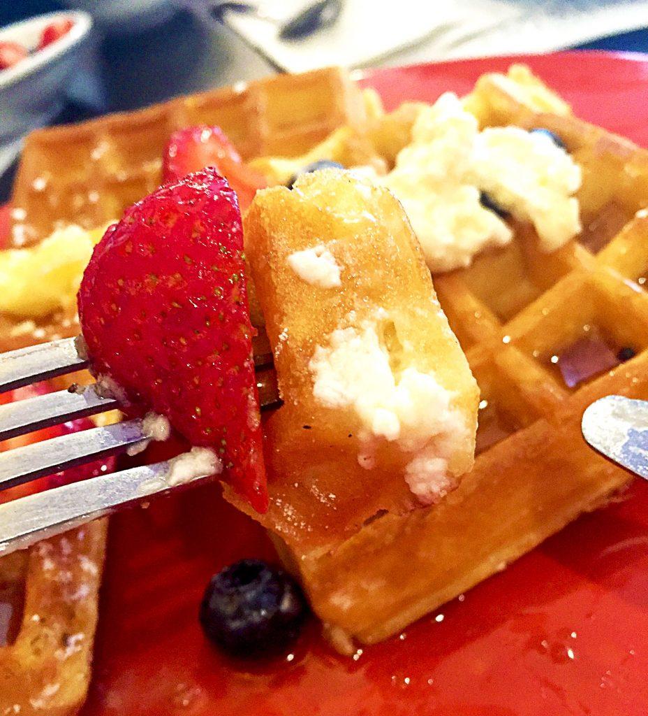 Classic Belgian Waffles at Sophie's | tryhiddengems.com