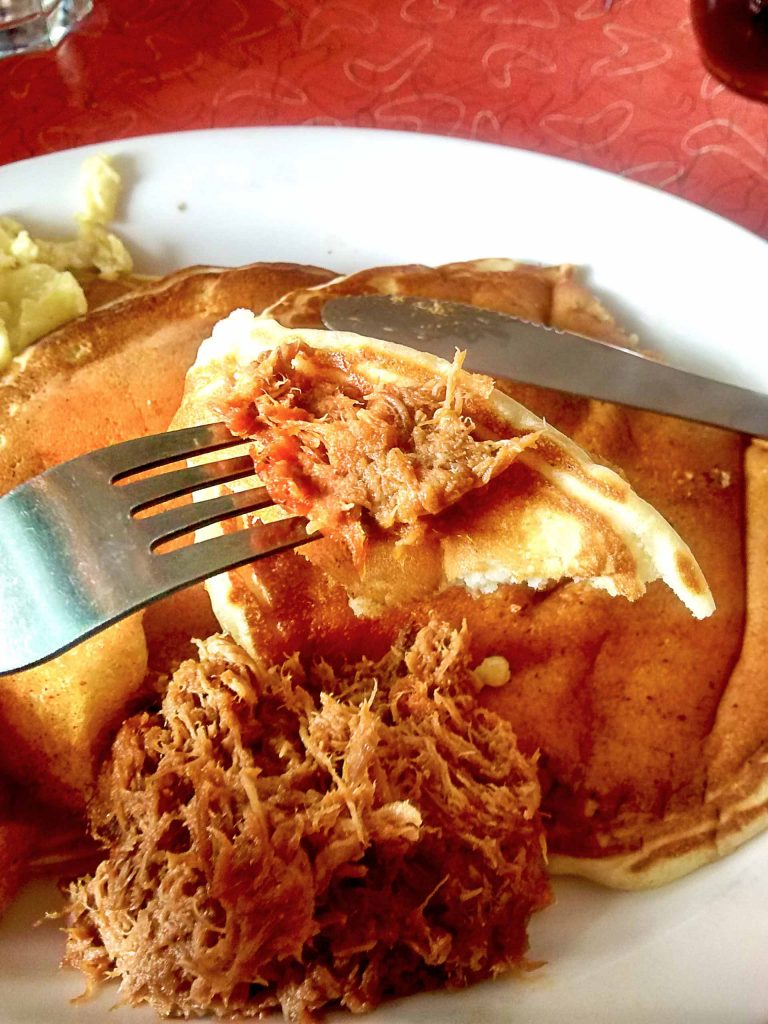 Pull Pork Pancake at Lucy's Eastside Diner | tryhiddengems.com