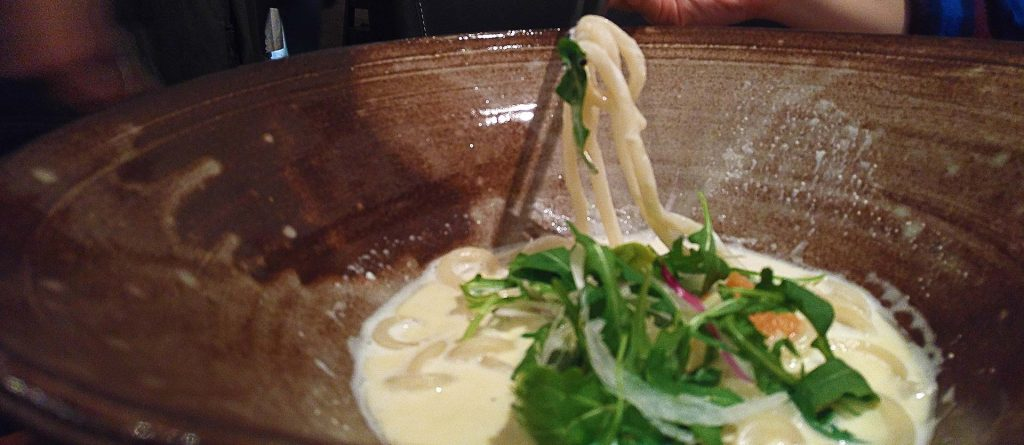 Milky Silky Mentaiko Udon at Raisu | tryhiddengems.com