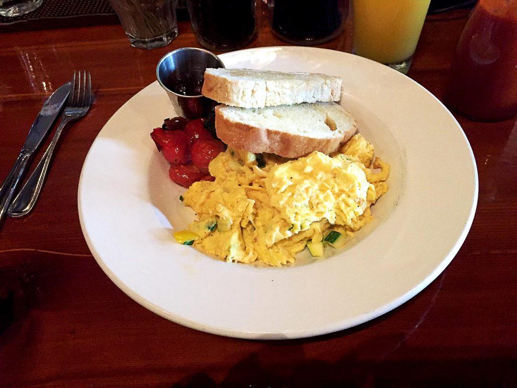 Zucchini Scrambled Eggs at Twisted Fork | tryhiddengems.com