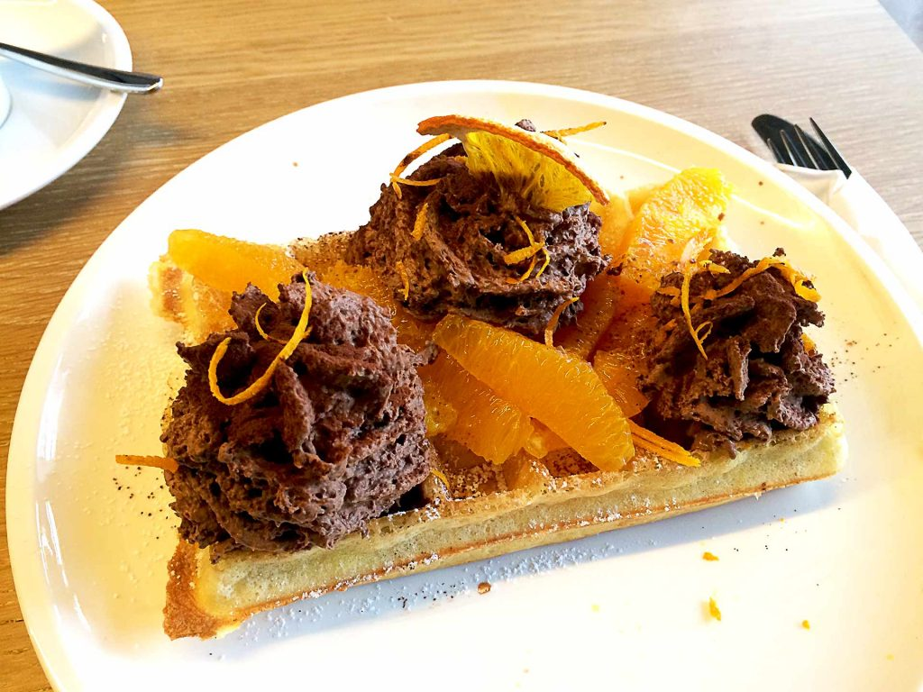 Orange Mousse Waffle at Nero | tryhiddengems.com