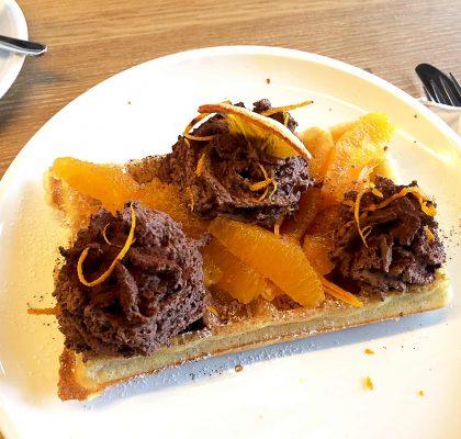 Orange Mousse Waffle at Nero | tryhiddengems.com
