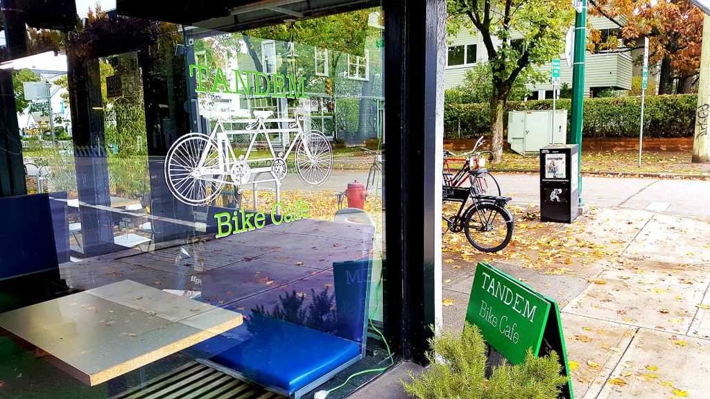 Tandem Bike Cafe - Bike Friendly Coffee Shop - Vancouver