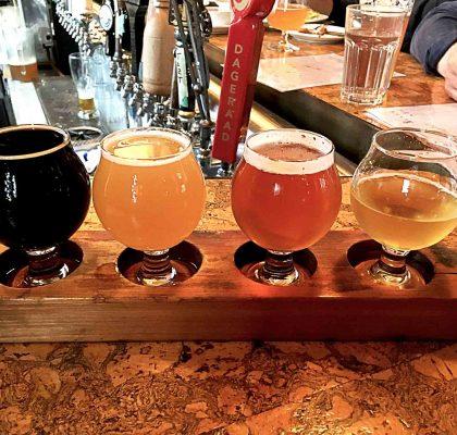 Craft Beer Flight at Alibi Room | tryhiddengems.com