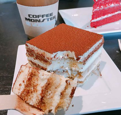 Tiramisu at Coffee Monster