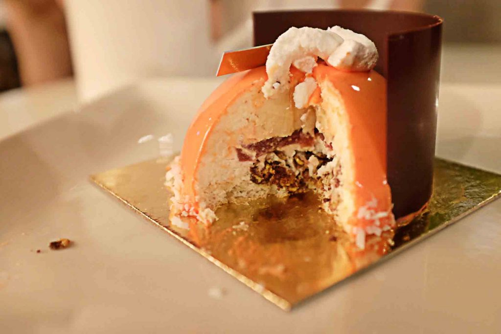 Chai tea Mousse Cake at La Foret | tryhiddengems.com