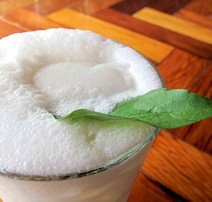Chau's Signature Coconut Shake at Chau Veggie Express | tryhiddengems.com