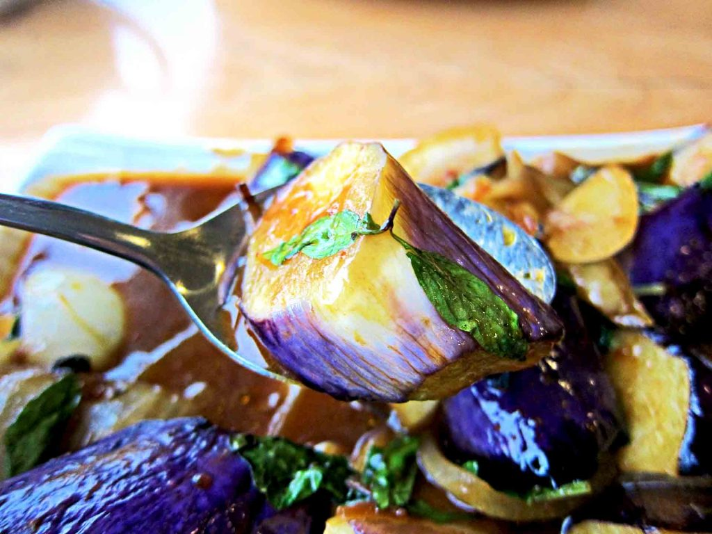 Basil Eggplant at Amay's House | tryhiddengems.com