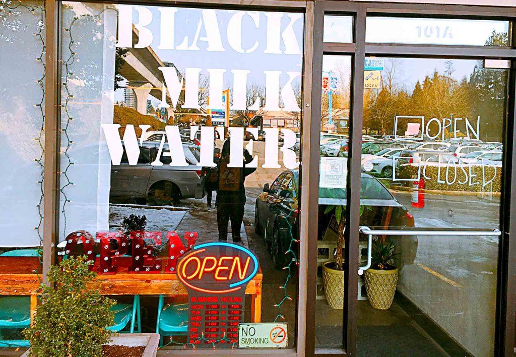 Black Milk Water - Korean Dessert Place - Burnaby North Road - Vancouver