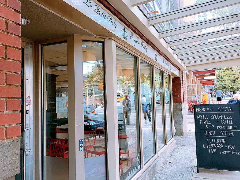 Le Petit Belge - Belgian Waffle Shop - Yaletown - Vancouver