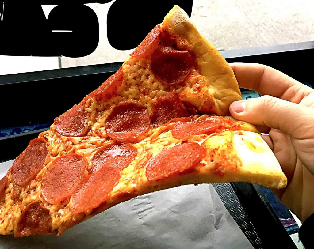 Pepperoni Slice at Nat's New York Pizzeria | tryhiddengems.com