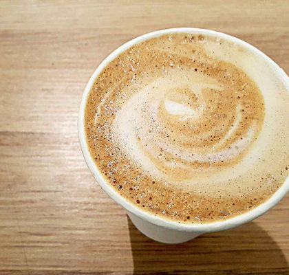 Pumpkin Pie Latte at Baker & Table Café | tryhiddengems.com