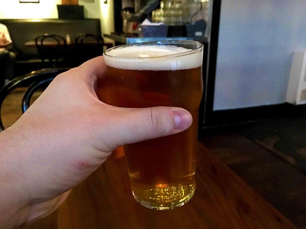 Strange Fellow's Talisman West Coast Pale Ale at The Whip Restaurant & Gallery   tryhiddengems.com