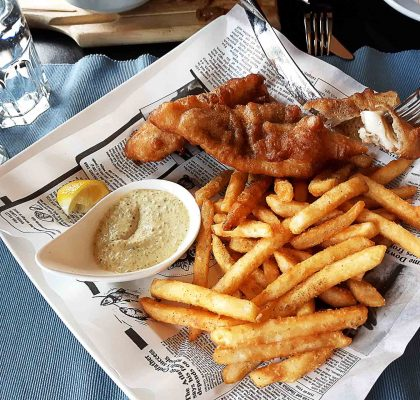 House Signature Fish and Chips at Bay Moorings Restaurant | Hidden Gems Vancouver