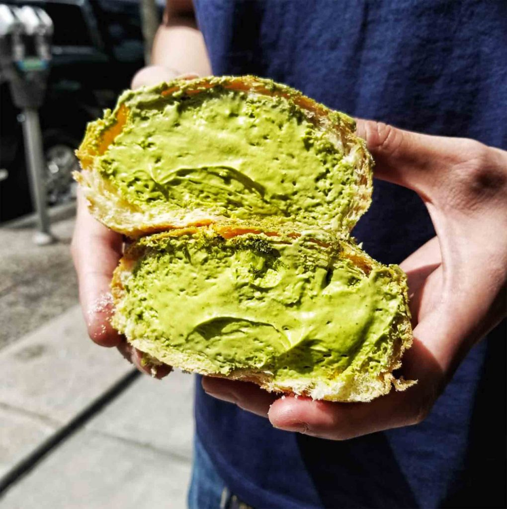 Matcha Sugar Bun at giovane cafe + eatery + market | Hidden Gems Vancouver