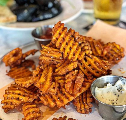 Yam Waffle Fries at CAVU Kitchen Bar | Hidden Gems Vancouver