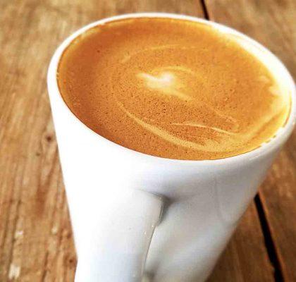 Almond Milk Latte at Juillet Cafe | Hidden Gems Vancouver