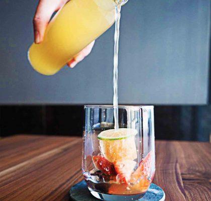 Cold-Brewed Fruit Tea at Billy Button Dessert Bar   Hidden Gems Vancouver