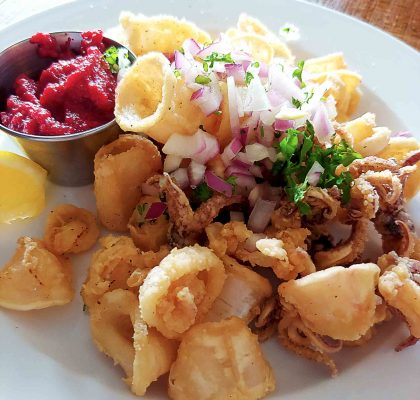 Calamari at Nammos Estiatorio | Hidden Gems Vancouver