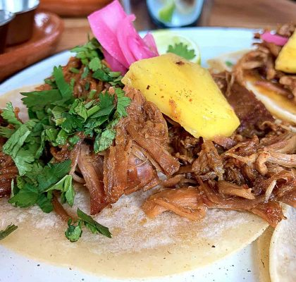 Pork Carnitas Tacos at Hugo's Mexican Kitchen | Hidden Gems Vancouver