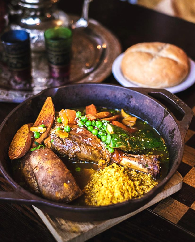 Lamb Shank Tagine at Moltaqa Moroccan Restaurant | Hidden Gems Vancouver