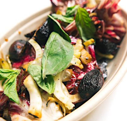 Fig and Wilted Radicchio at Amaranthus | Hidden Gems Vancouver