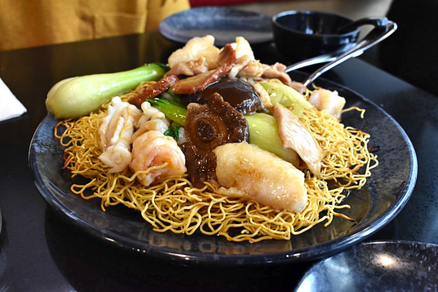 House Special Chow Mein at Congee Noodle Delight | Hidden Gems Vancouver