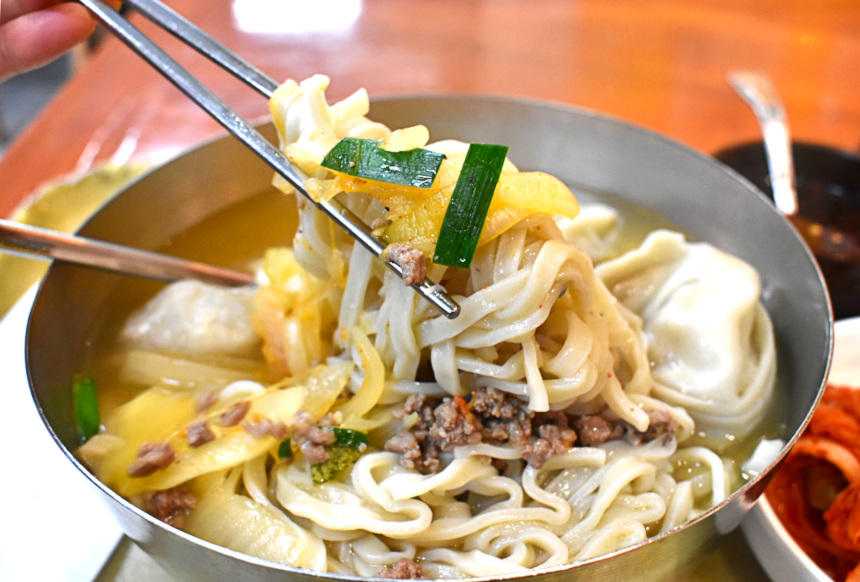 Mandu Kahl Gook Soo Koean Soup at Myoung Dong Kahl Gook Soo | Hidden Gems Vancouver