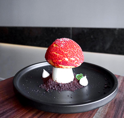 Mushroom at Billy Button Dessert Bar | Hidden Gems Vancouver