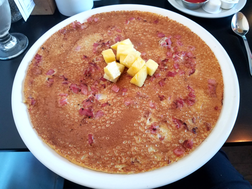Oahu Big Flat Pancake at Big Flat Pancake Co | Hidden Gems Vancouver