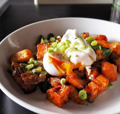 Pork Belly Hash at Ham & Eggman's | Hidden Gems Vancouver