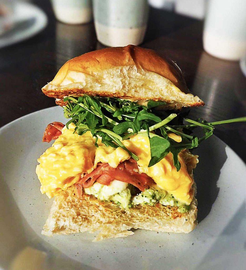 Breakfast Sammy With Mortadella at Livia Bakery | Hidden Gems Vancouver