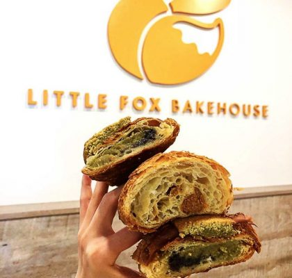 Matcha Black Sesame Double Baked Croissant at Little Fox Bakehouse | Hidden Gems Vancouver