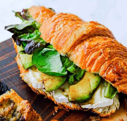 Brie and Avocado Croissant Sandwich at A Bread Affair | Hidden Gems Vancouver