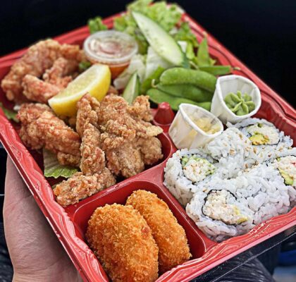Chicken Karaage Bento Box at Takeya Sushi | Hidden Gems Vancouver