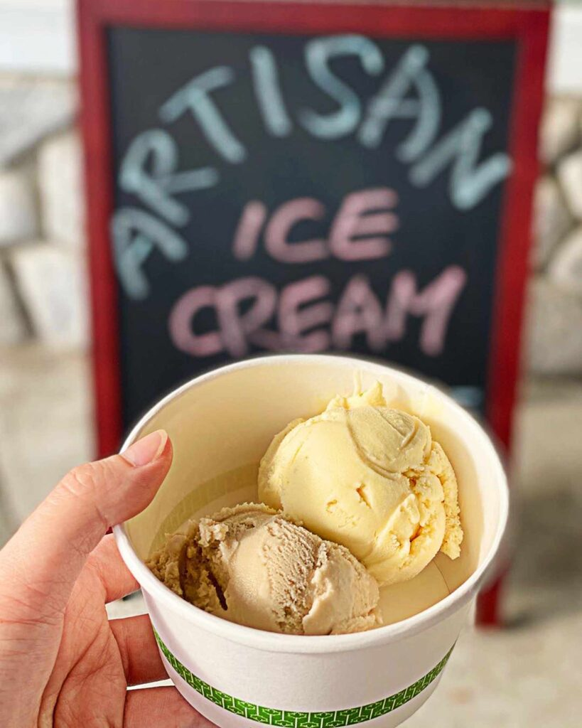 Passion Fruit and Brown Sugar Ice Cream at Something Sweet | Hidden Gems Vancouver