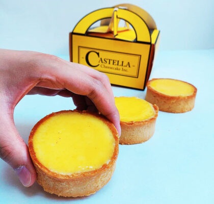 Freshly Baked Cheese Tarts at Castella Cheesecake | Hidden Gems Vancouver