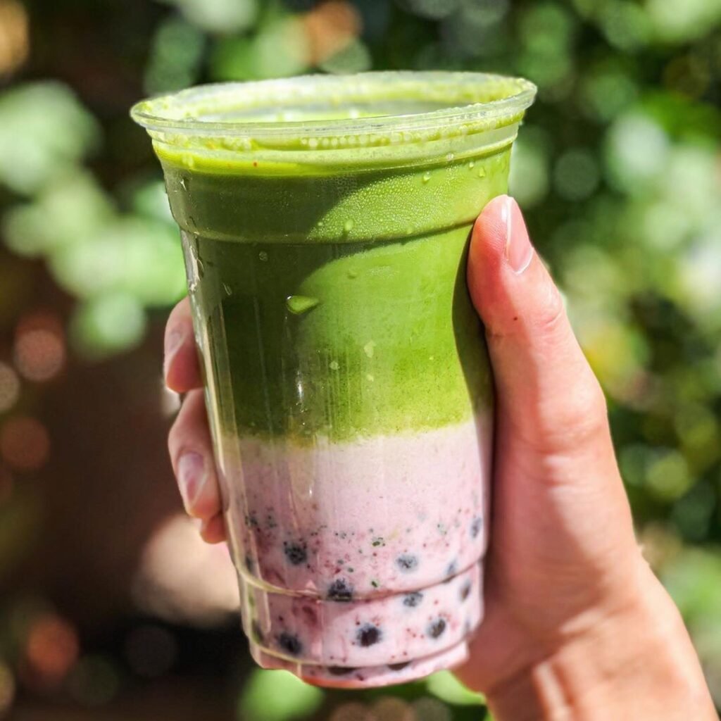 Iced Strawberry Matcha Latte at Whisk Matcha Cafe | Hidden Gems Vancouver