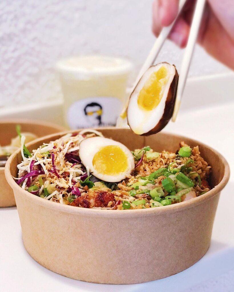Vietnamese Lemongrass Chicken Bowl at Holy Chow | Hidden Gems Vancouver