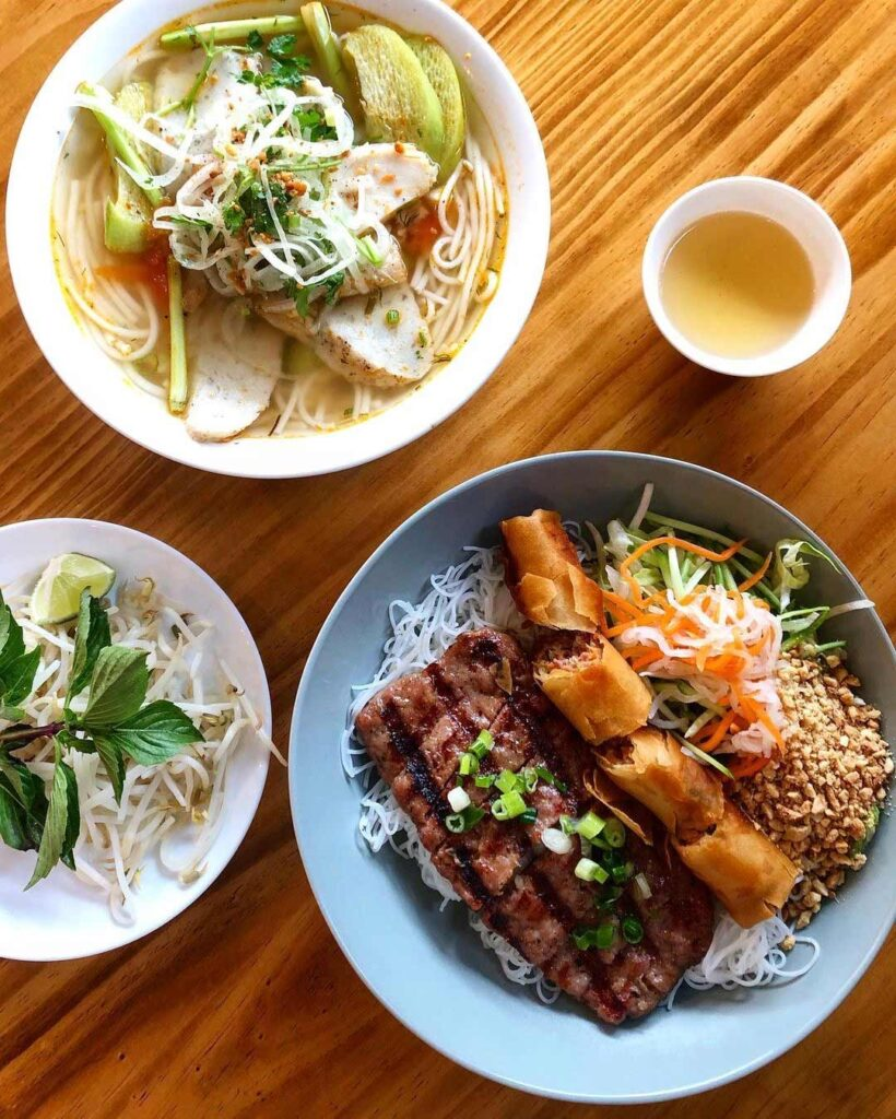 Bun Nem Nuonh Cha Gio at Baoguette Vietnamese Bistro | Hidden Gems Vancouver