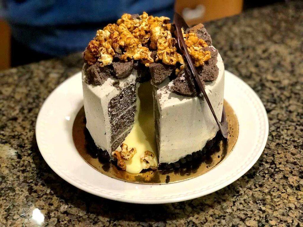 Black Mist Volcano Cake at Buttermere Patisserie (CAFE) | Hidden Gems Vancouver
