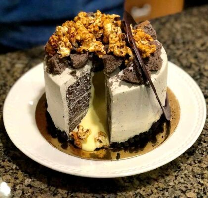 Black Mist Volcano Cake at Buttermere Patisserie (CAFE) | Hidden Gems Vancouver